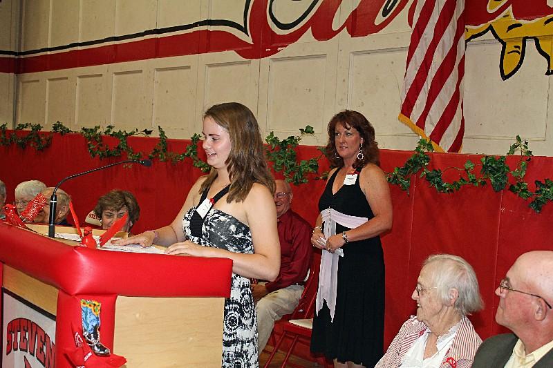 President of the graduating class of 2012, Jessica Eaton