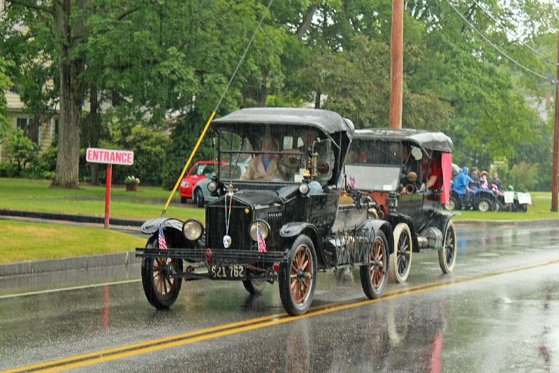 Class of 1946 SHS Bob Hauge (Model T) and Class of 2000, 2001, + 2002