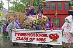 "1986 Class winners of the "" Stevens High School Alumni Association Trophy""."