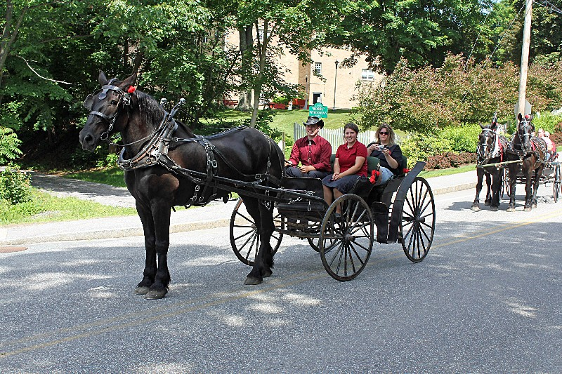 Alumni Officers : Horse drawn carriages owned by Peter Haynes