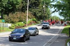 The Alumni Parade is starting, Borad Street to South Street.