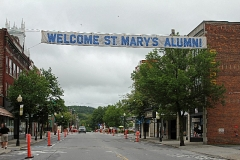 City of Claremont, N.H. gets ready for the Alumni Parade