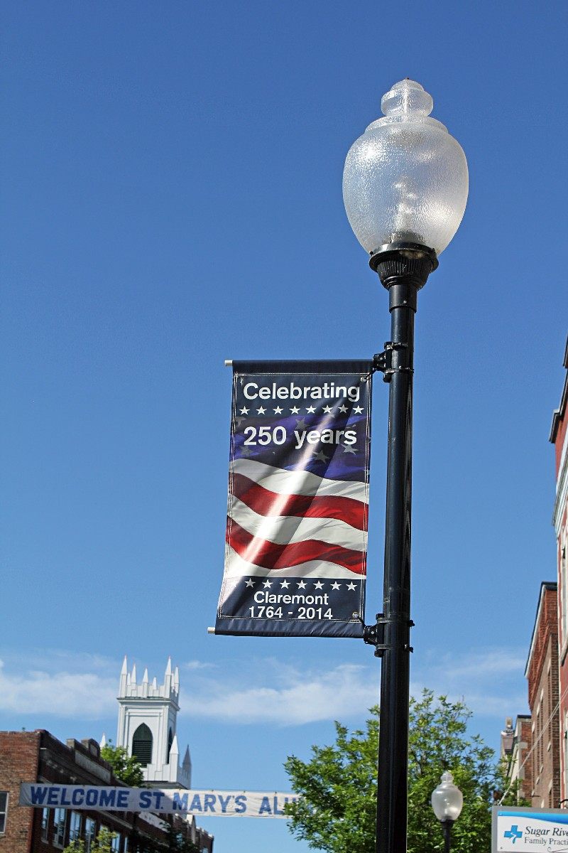 Claremont, N. H. is also celebrating their 250 Anniversary .