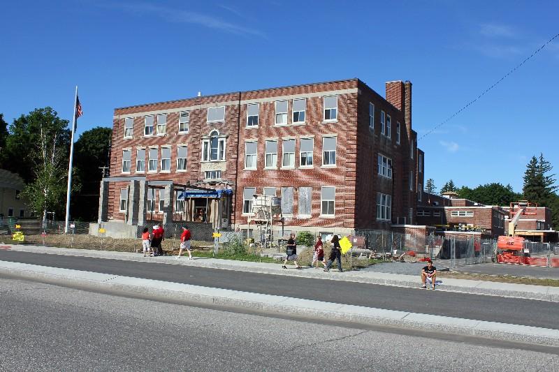 Stevens High School - Claremont N. H. being restored.
