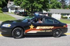 The beginning of the SHS Alumni Parade - Sullivan County Sheriff, Michael Prozzo