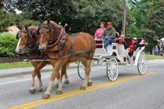 Bruce Streeter horse drawn carriage: Alumni officers - Doug and Carolyn LeBlanc