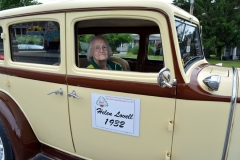 At age 102, Helen Lovell is the oldest active member of the Stevens Alumni. She graduated in 1932 and rides in a 1932 Chrysler with her younger brother in the 2016 Stevens Alumni parade. (1/250 sec., F8, automatic-with flash mode (no flash), ISO 160, 18mm).Photo: Stephen C. Fitch June 11, 2016 9:40 AM