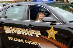 This lucky youngster rides shotgun in the Sullivan County Sheriff car the 2016 Stevens Alumni parade. (1/125 sec., F5.6, automatic-no flash mode, ISO 250, 55mm telephoto).Photo: Stephen C. Fitch June 11, 2016 11:10 AM