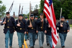 These Civil War-costumed gentlemen perform in the 2016 Stevens Alumni parade. (1/200 sec., F7.1, automatic-no flash mode, ISO 200, 40mm).Photo: Stephen C. Fitch June 11, 2016 10:50 AM