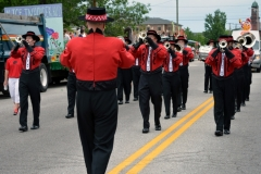 Band members perform during the 2016 Stevens Alumni parade. (1/200 sec., F7.1, automatic-no flash mode, ISO 200, 55mm).Photo: Stephen C. Fitch June 11, 2016 10:38 AM