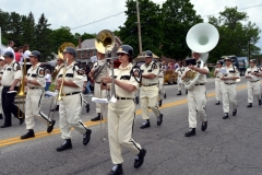 Members of the Yankee Doodle American Legion Band from Rensselaer, New York perform during the 2016 Stevens Alumni parade. (1/200 sec., F7.1, automatic-no flash mode, ISO 200, 35mm).Photo: Stephen C. Fitch June 11, 2016 10:45 AM